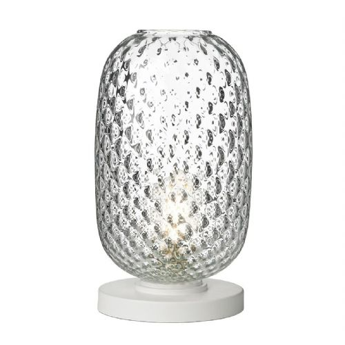Vidro Table Lamp Clear Glass Large VID4308 (Hand made, 7-10 day Delivery)